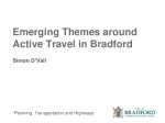 Active Travel in Bradford - Simon D'Vali