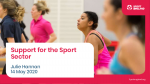 Support for the Sport Sector - Julie Hannan, Sport England